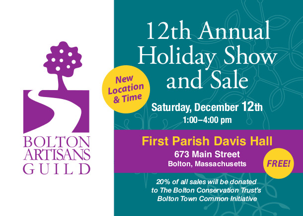 Bolton Artisans Guild holiday show and sale December 12, 2015 1:00 - 4:00PM