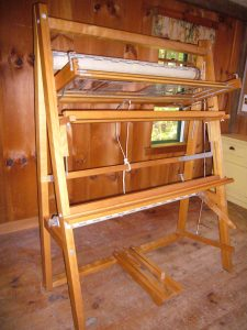 45″ Tissart Tapestry loom and assorted tools for sale – Nashoba
